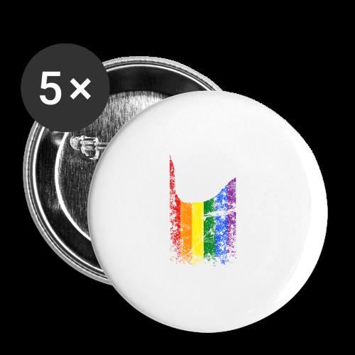 ILY Regenbogen Handsign - Buttons klein 25 mm