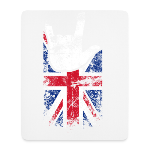 ILY Großbritannien Handsign - Mousepad (Hochformat)