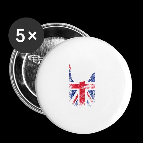 ILY Großbritannien Handsign - Buttons groß 56 mm