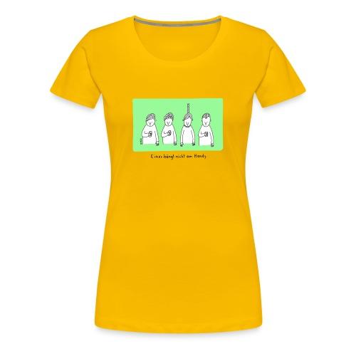 Handy (mit Text) - Frauen Premium T-Shirt