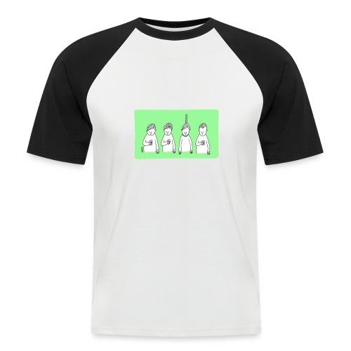Handy (mit Text) - Männer Baseball-T-Shirt