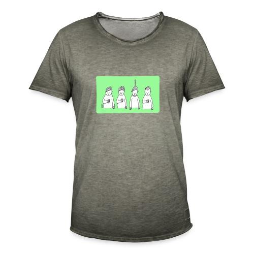 Handy (mit Text) - Männer Vintage T-Shirt