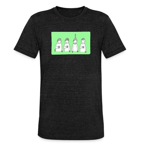 Handy (mit Text) - Unisex Tri-Blend T-Shirt von Bella + Canvas