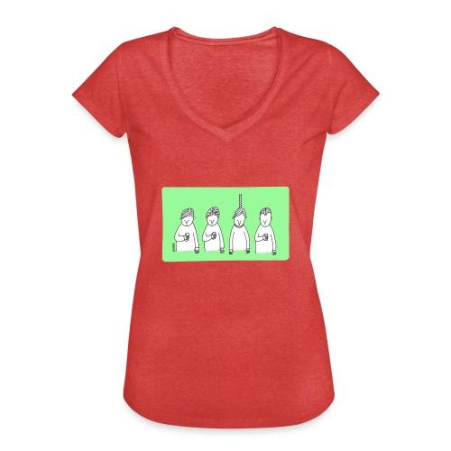 Handy (mit Text) - Frauen Vintage T-Shirt