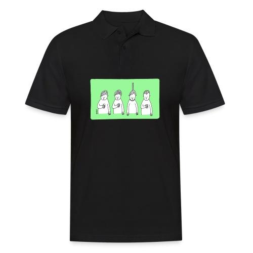 Handy (mit Text) - Männer Poloshirt