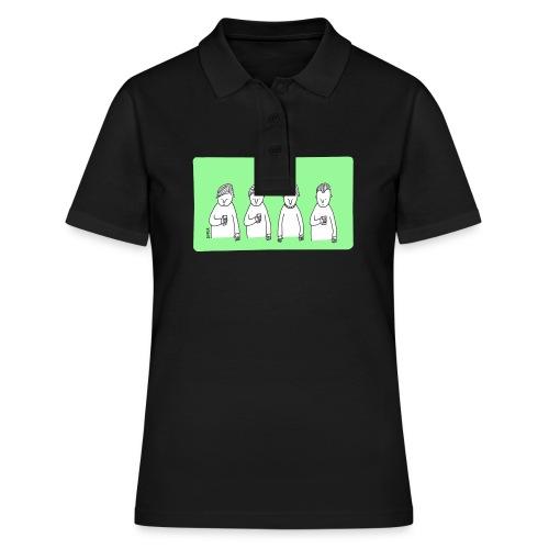 Handy (mit Text) - Frauen Polo Shirt