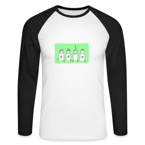 Handy (mit Text) - Männer Baseballshirt langarm