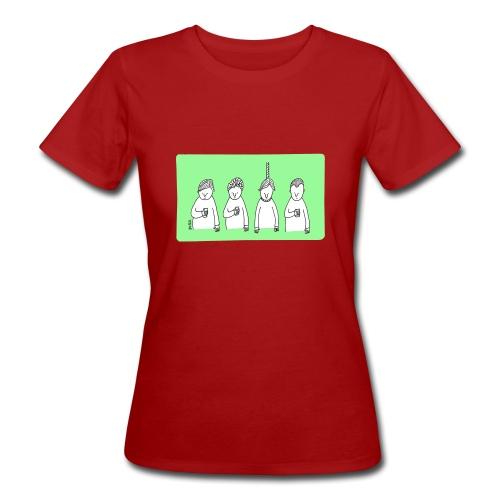 Handy (mit Text) - Frauen Bio-T-Shirt