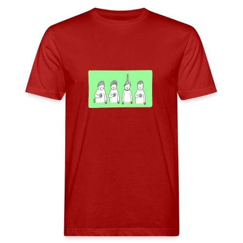 Handy (mit Text) - Männer Bio-T-Shirt