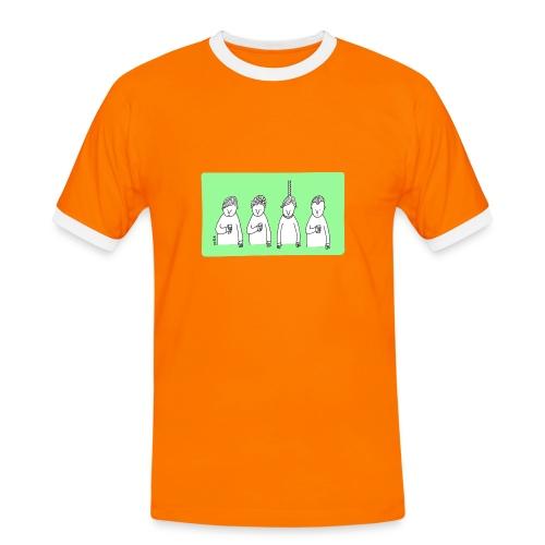 Handy (mit Text) - Männer Kontrast-T-Shirt