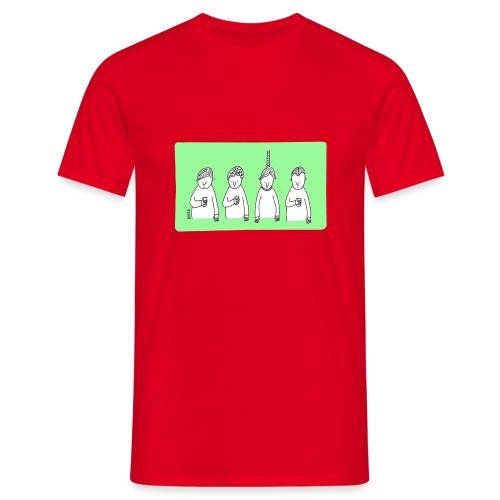 Handy (mit Text) - Männer T-Shirt