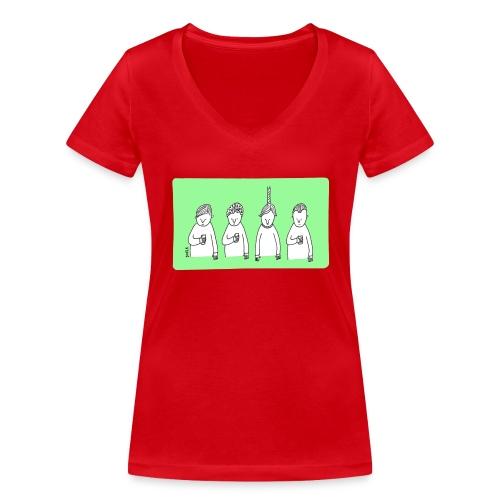 Handy (mit Text) - Frauen Bio-T-Shirt mit V-Ausschnitt von Stanley & Stella