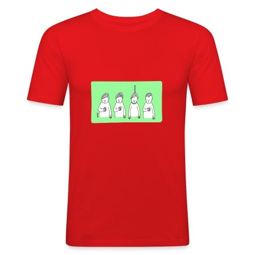 Handy (mit Text) - Männer Slim Fit T-Shirt