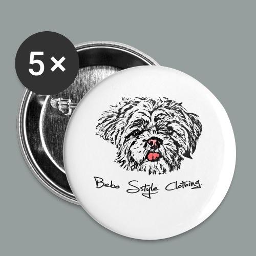 Shih Tzu - Buttons klein 25 mm (5er Pack)