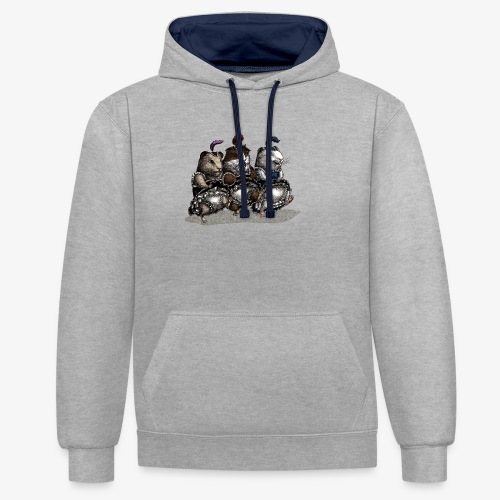 Guinea Pig Can-can - Contrast Colour Hoodie