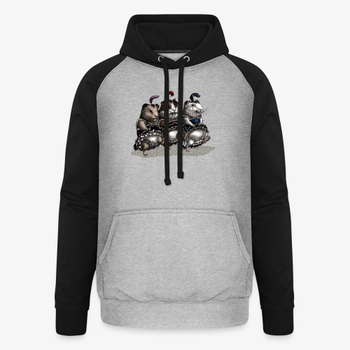 Guinea Pig Can-can - Unisex Baseball Hoodie