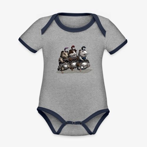 Guinea Pig Can-can - Organic Baby Contrasting Bodysuit
