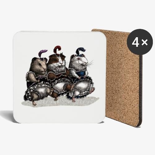 Guinea Pig Can-can - Coasters (set of 4)