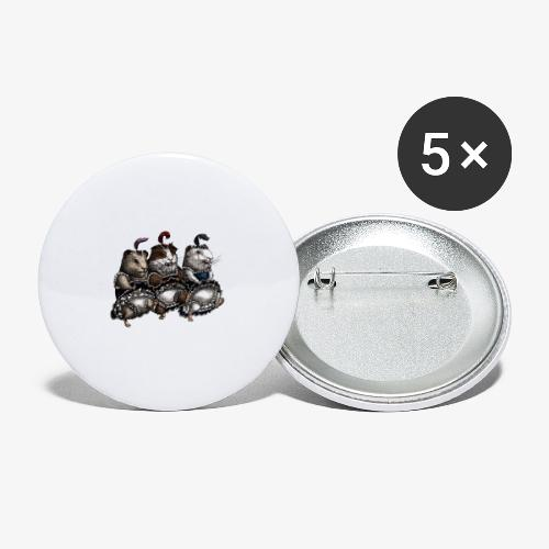 Guinea Pig Can-can - Buttons medium 1.26/32 mm (5-pack)