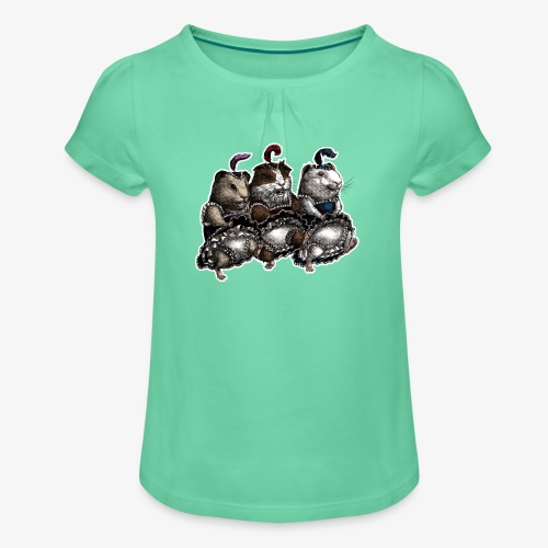 Guinea Pig Can-can - Girl's T-Shirt with Ruffles