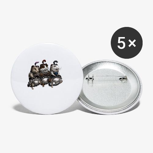 Guinea Pig Can-can - Buttons small 1''/25 mm (5-pack)