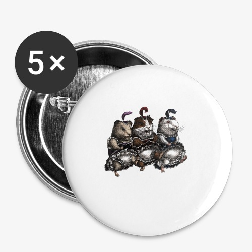 Guinea Pig Can-can - Buttons small 25 mm