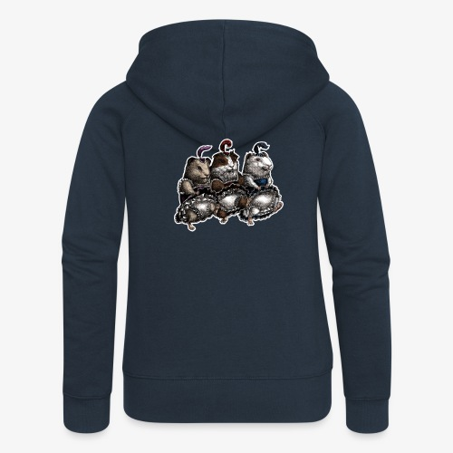 Guinea Pig Can-can - Women's Premium Hooded Jacket