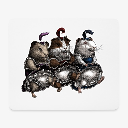 Guinea Pig Can-can - Mouse Pad (horizontal)