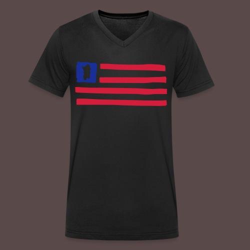 United States of Sardinia - T-shirt ecologica da uomo con scollo a V di Stanley & Stella
