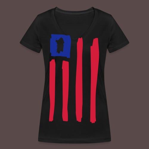 United States of Sardinia - T-shirt ecologica da donna con scollo a V di Stanley & Stella