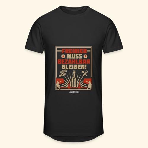 Bier T Shirt Freibier | Geschenkidee Biertrinker - Männer Urban Longshirt