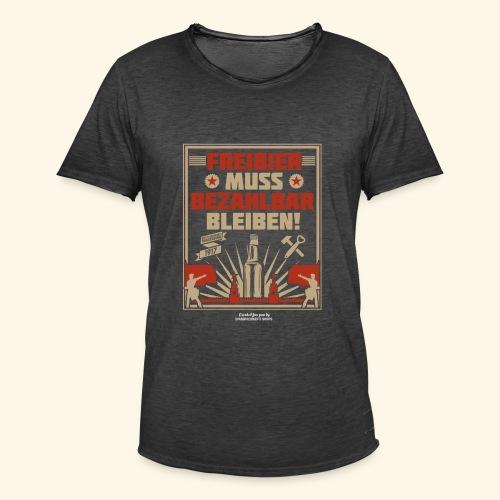 Bier T Shirt Freibier | Geschenkidee Biertrinker - Männer Vintage T-Shirt