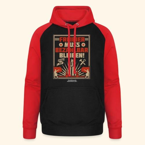 Bier T Shirt Freibier | Geschenkidee Biertrinker - Unisex Baseball Hoodie