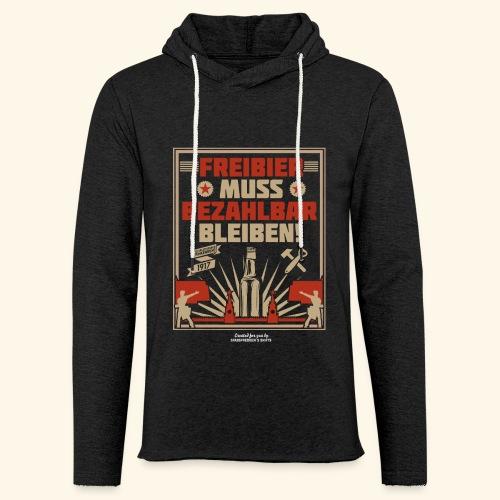 Bier T Shirt Freibier | Geschenkidee Biertrinker - Leichtes Kapuzensweatshirt Unisex