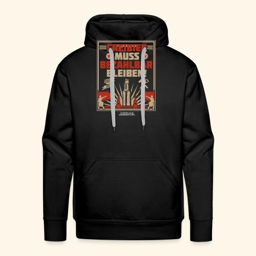 Bier T Shirt Freibier | Geschenkidee Biertrinker - Männer Premium Hoodie