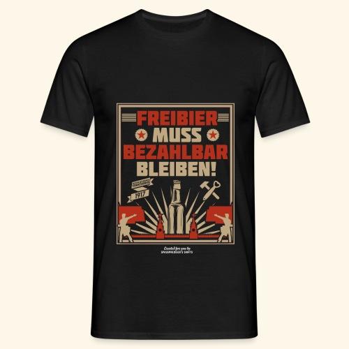 Bier T Shirt Freibier | Geschenkidee Biertrinker - Männer T-Shirt