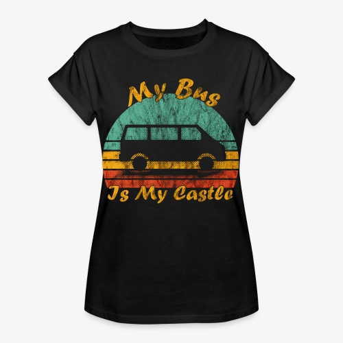 My Bus Is My Castle (Washed) - Frauen Oversize T-Shirt