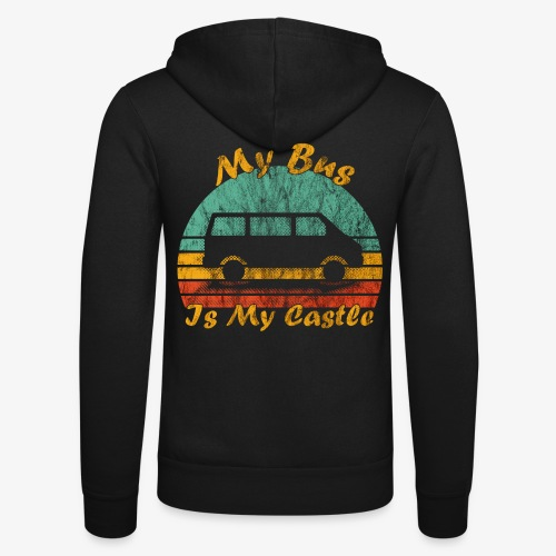 My Bus Is My Castle (Washed) - Unisex Kapuzenjacke von Bella + Canvas