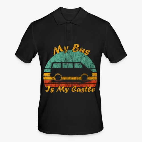 My Bus Is My Castle (Washed) - Männer Poloshirt