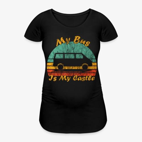 My Bus Is My Castle (Washed) - Frauen Schwangerschafts-T-Shirt