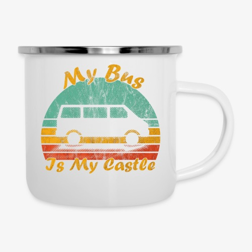 My Bus Is My Castle (Washed) - Emaille-Tasse