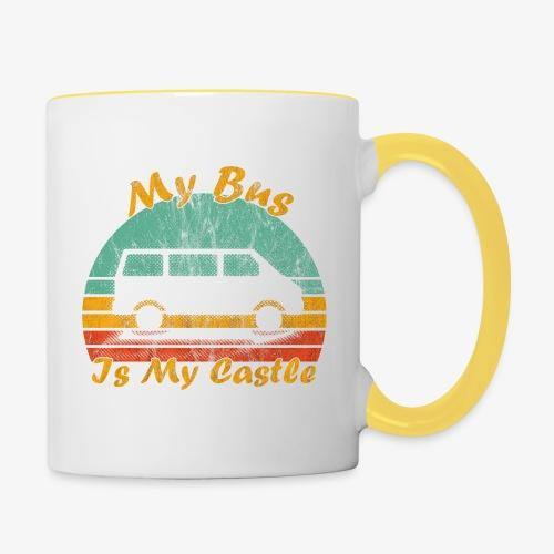 My Bus Is My Castle (Washed) - Tasse zweifarbig