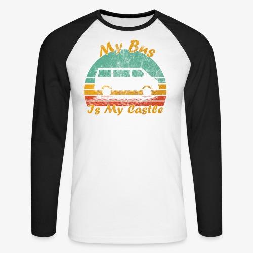 My Bus Is My Castle (Washed) - Männer Baseballshirt langarm