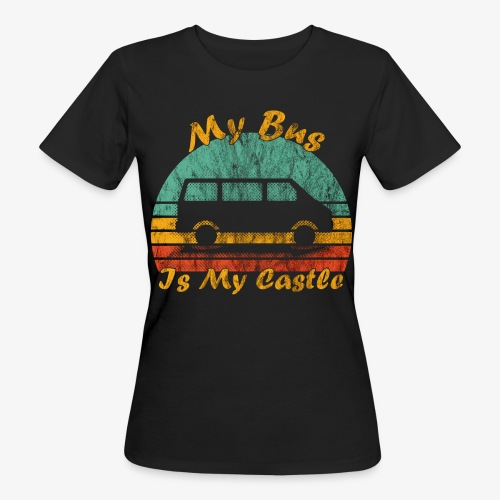 My Bus Is My Castle (Washed) - Frauen Bio-T-Shirt