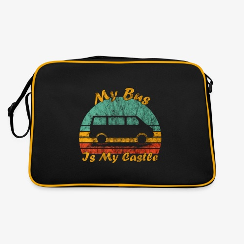 My Bus Is My Castle (Washed) - Retro Tasche