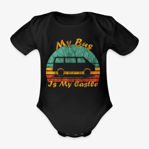My Bus Is My Castle (Washed) - Baby Bio-Kurzarm-Body