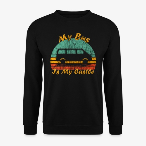 My Bus Is My Castle (Washed) - Männer Pullover