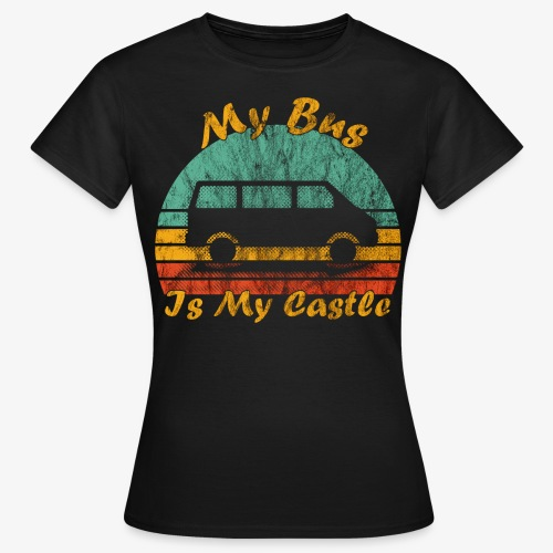 My Bus Is My Castle (Washed) - Frauen T-Shirt