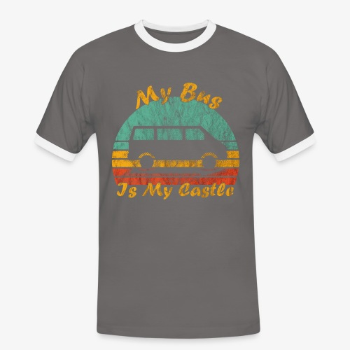 My Bus Is My Castle (Washed) - Männer Kontrast-T-Shirt