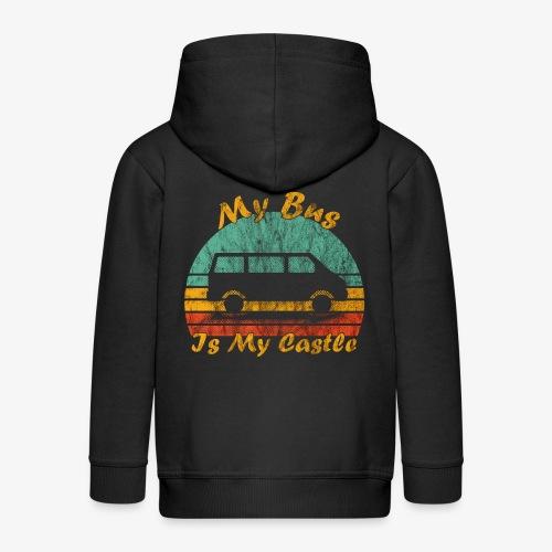 My Bus Is My Castle (Washed) - Kinder Premium Kapuzenjacke